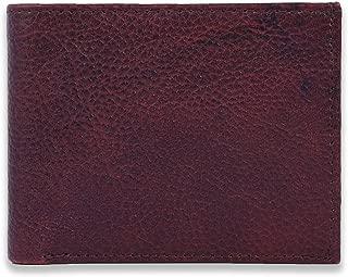 Sleek edge 4 ATM High Quality Genuine Leather Wallet for Men (Maroon)