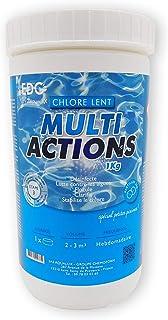 EDENEA - Chlore Multi Actions Piscine - Pastilles 20g - Boite 1 kg - Traitement Longue Durée Désinfectant Multi Fonctions...