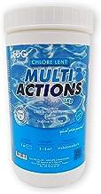 EDENEA - Chlore Multi Actions Piscine - Pastilles 20g - Boite 1 kg - Traitement Longue Durée Désinfectant Multi Fonctions - EDG