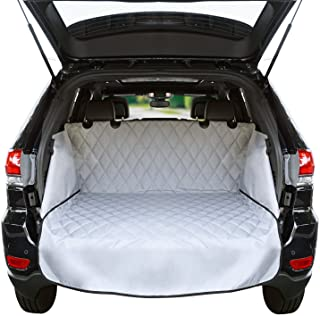 Jumbl Pet Cargo Liner for SUV's and Cars, Waterproof Material, Non Slip Backing, with Side Walls Protectors, Extra Bumper Flap Protector, Large Size - Universal Fit