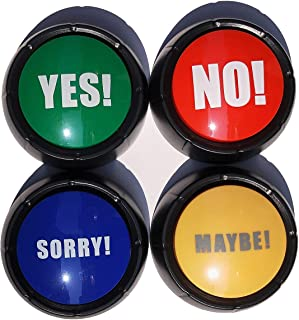 Joffreg Set of 4,The NO, YES, Sorry and Maybe Buttons