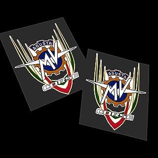 0299 010 Bianco MV Agusta Rivale autocollants roues int/érieur Rayures cercles Stickers Strip jantes Cod