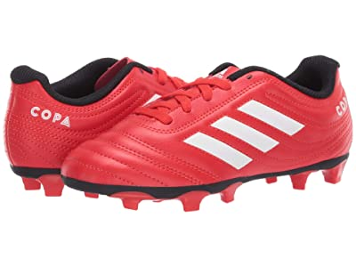 adidas Kids Copa 20.4 FG J Soccer (Little Kid/Big Kid) (Active Red/White/Black) Kids Shoes