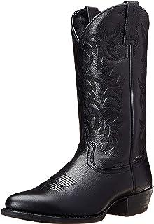 Stivali da Cowboy Occidentali Tacco Alto Punta a Punta Indossabile per Uomo Modello di Ricamo Scarpe in Pelle Stivali a me...