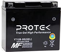 Protek YT12B YT12B-BS 12V 10Ah Sealed AGM Gel Type Battery Maintenance Free Factory Activated For Ducati GT1000 Monster S2R 821 796 696 Hypermotard Hyperstrada 939 Scrambler 803 Sixty2
