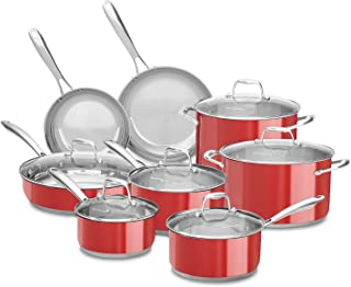 kitchenaid 10 pc stainless steel cookware set