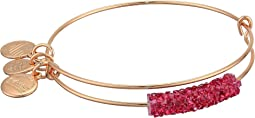 Raspberry Lips Fine Rocks Bangle Bracelet
