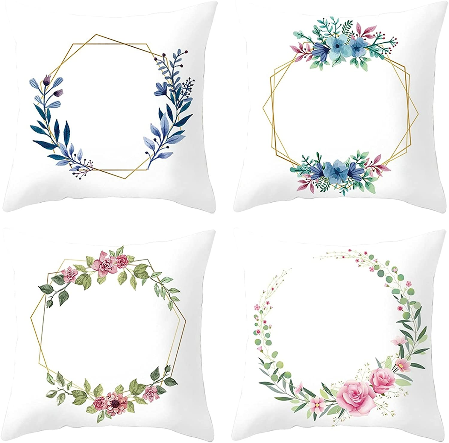 Daesar Pillow Selling Cases Beauty products Decorative Pillowcase Living Room Pack 4 Wh