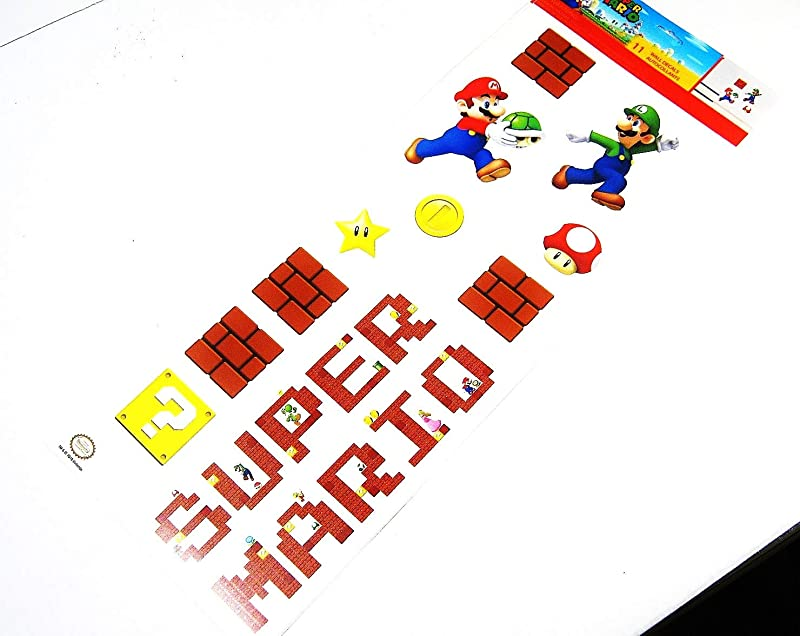 ROOMMATES Super Mario BROS Removable Vinyl Wall Stickers Kids Room D Cor