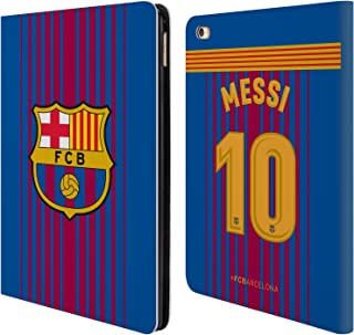 Official FC Barcelona Messi 2017/18 Players Home Kit Group 1 Leather Book Wallet Case Cover Compatible for iPad Air 2 (2014)