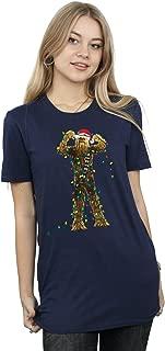 Women's Chewbacca Christmas Lights Boyfriend Fit T-Shirt