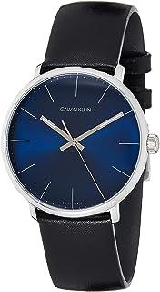 Calvin Klein Unisex Adult Analogue-Digital Quartz Watch with Leather Strap K8M211CN