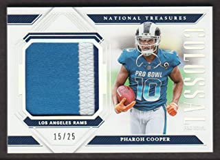 2018 Panini National Treasures Football Colossal Pro Bowl Materials Prime #PB-23 Pharoh Cooper 15/25 Los Angeles Rams