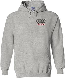 Audi Logo S R8 Line Pocket Print Novelty Black Men Women Unisex Hooded Sweatshirt Hoodie