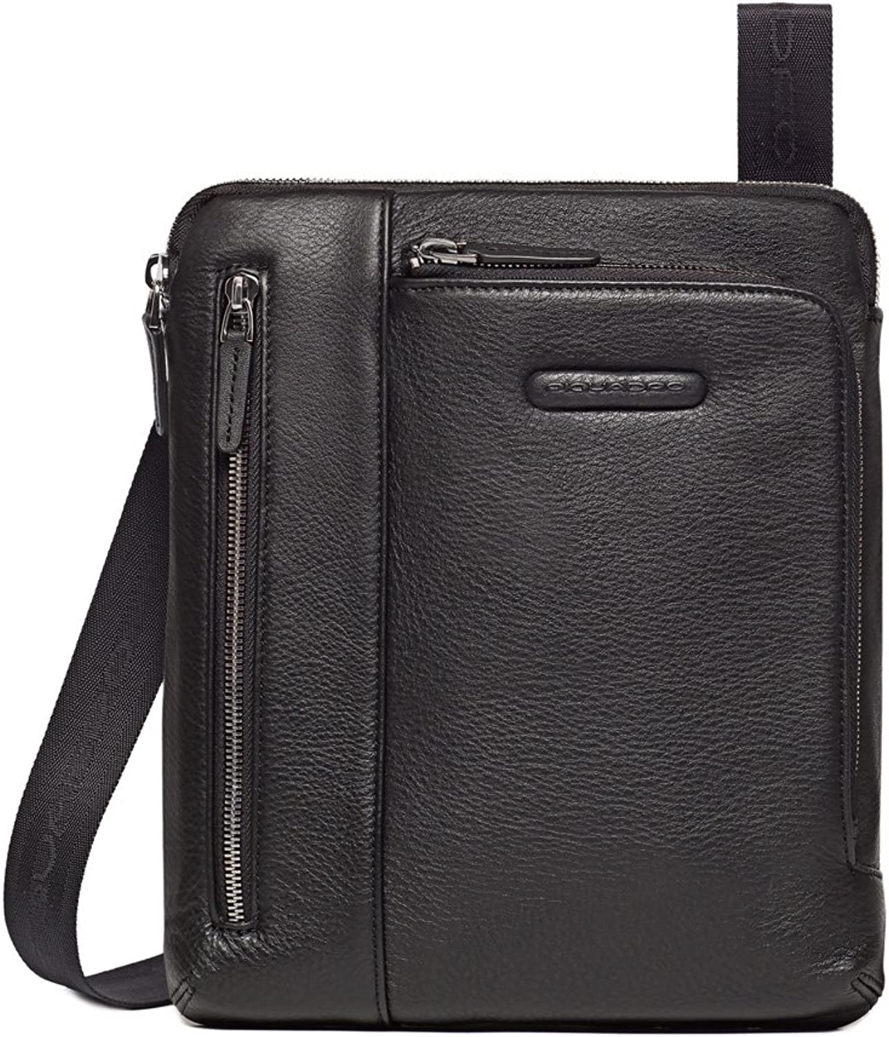 Piquadro iPad Air Shoulder Pocket Bag with Pocket For MP3 Player, Black, One Size