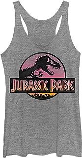 Jurassic Park Women's Logo Sunset Racerback Tank Top