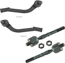 4 Piece Kit inner Outer Tie Rod End LH Driver RH Passenger for Kia Hyundai