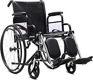 Giantex Folding Wheelchair Lightweight Wide Seat 18