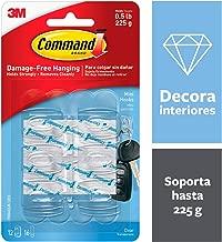 3M Command Hooks Transparent Plastics 6 Hook / 8 S Size Bands, Clear