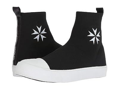 Neil Barrett Military Star Techknit Sock Sneaker (Black/White) Men