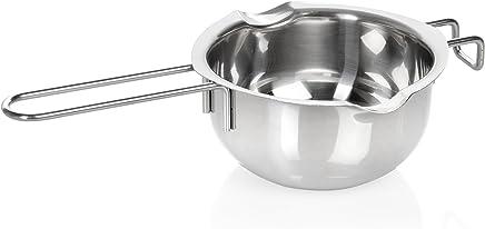 Wenco 518550 Wasserbad-Schmelzschale, Mit 2 Ausgießern, Rostfreier Edelstahl, 14 cm, Silber preisvergleich bei geschirr-verleih.eu