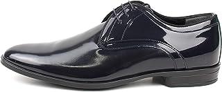 Zapatos de ceremonia clásicos artesanales Oxford de pintura azul