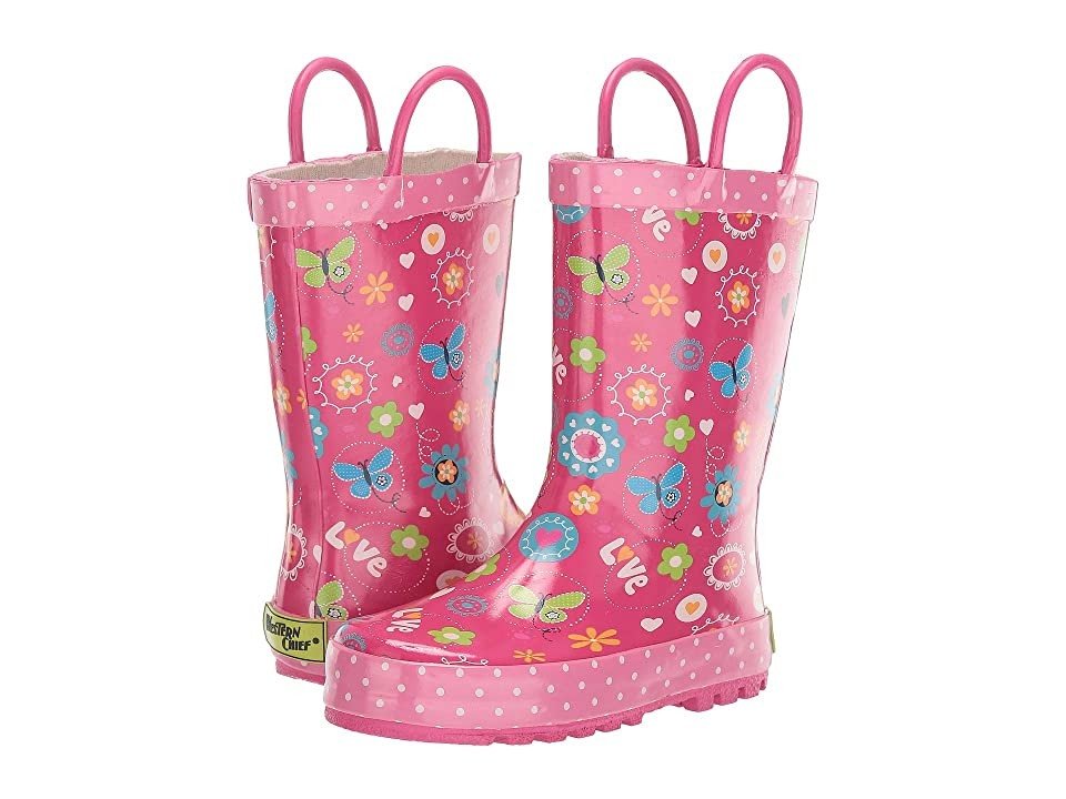 Western Chief Kids Love Bug Rain Boot (Toddler/Little Kid) (Fuchsia) Girls Shoes