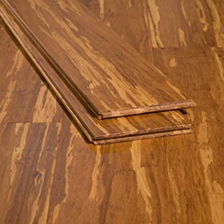 Ambient Bamboo - Bamboo Flooring Sample, Color: Tiger, Solid Strand Tongue and Groove