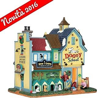 Lemax Rex &Spot's Doggy School Porcelain Village Building