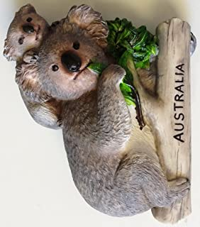 Koala AUSTRALIA Resin 3D fridge Refrigerator Thai Magnet Hand Made Craft.