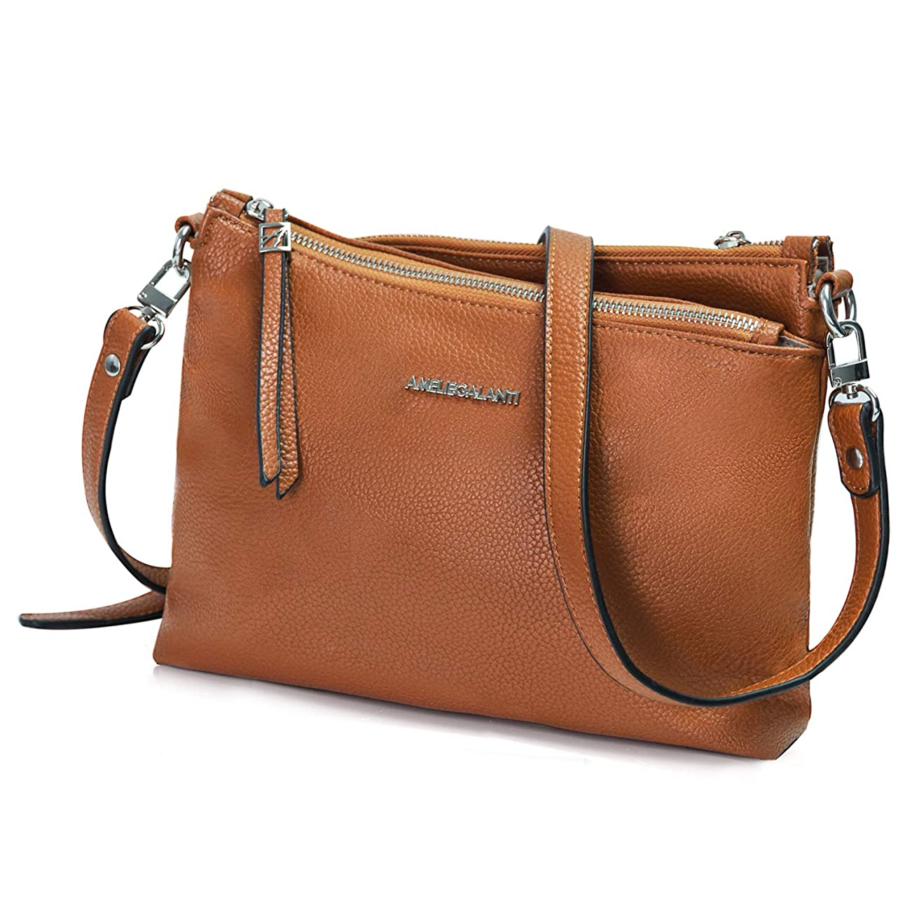Crossbody Bags for Women, Purses and Handbags PU Leather Shoulder Bag Satchel with Adjustable Strap and Multi Pockets riw071423772155