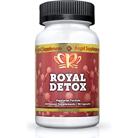 Royal Detox | Safe, Gentle, Effective Cleanse with Spirulina, Chlorella, Cilantro, Zeolite & Apple Pectin | Supports Optimal Energy, Positive Mood, Immune Health & Reduced Inflammation (90 Capsules)
