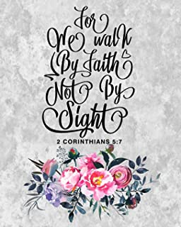 2020 Planner: Weekly & Monthly Calendar Planner | January through December | Bible Verses | Walk By Faith