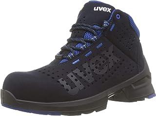 Uvex 1 S1 SRC ESD Baskets de Securite - Chaussure de Travail Montante Perforée - Homme Bleu - Antidérapante - Embout de Pr...