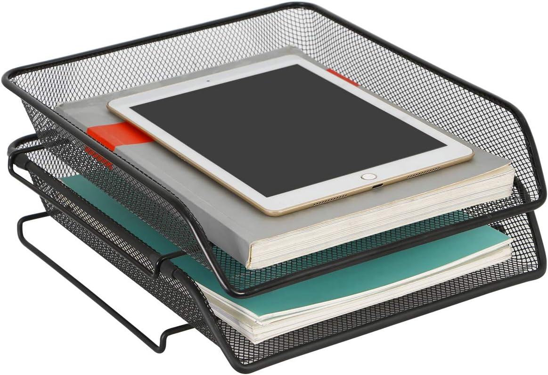 DESIGNA Stackable Metal Mesh Desk Trays Tier 2 D Detroit Mall File Paper Tray Award