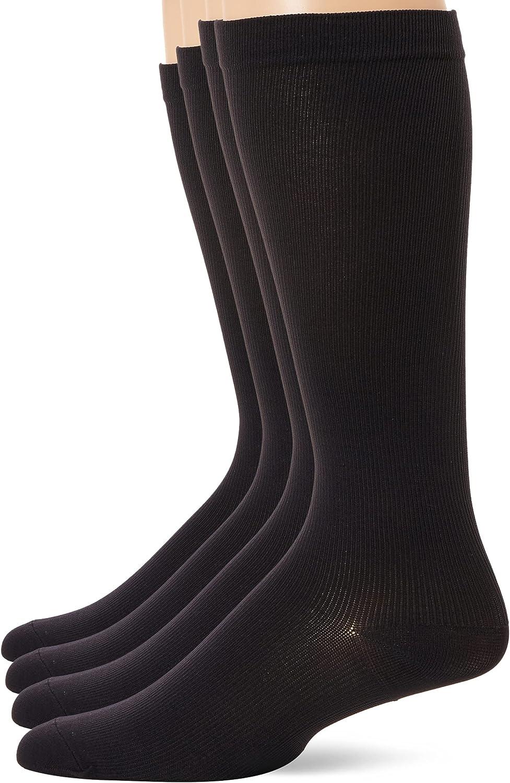 MediPEDS Men's 4 Pack Mild Compression Over The Calf Socks