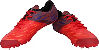 Nivia AT-108RD Mesh Running Spikes Carbonite