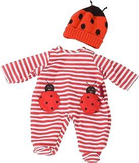 Götz Götz 3403036 Kombi Ladybug - Puppenbekleidung Gr. S - 2-teiliges Bekleidungs- und Zubehörset für Babypuppen von 30 - 33 cm