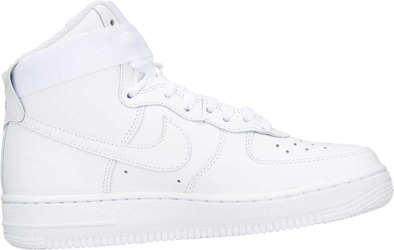 Amazon.com: Nike Mujeres Air Force 1 Alto Blanco 334031-105 : Ropa ...