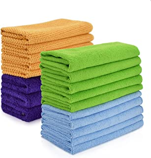 18 Pack Cleaning Rags towels kitchen Cloths for Cleaning Counters Microfiber Window Car Cleaning Cloth for Glass Dish Screens Highly Absorbent No Fabric Soft 12x16 inches