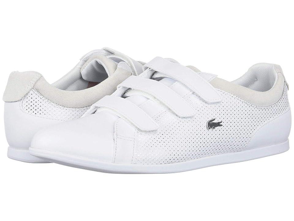 Lacoste Rey Strap 418 1 (White/Silver) Women