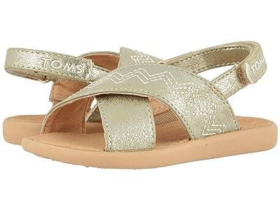 TOMS Kids Viv (Toddler/Little Kid) (Desert Taupe Shimmer Synthetic) Girls Shoes