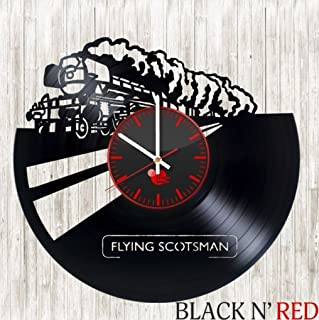Flying Scotsman design vinyl wall clock great gift for men, women, kids, girls and boys, birthday, christmas beautiful home decor - unique design that made out of vinyl LP record