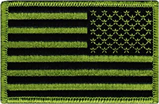 American Flag Embroidered Patch Reverse Green United States Subdued Military
