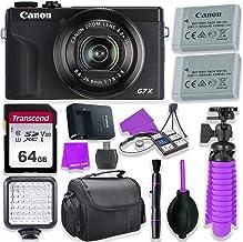 $689 » Canon PowerShot G7 X Mark III Camera w/ 1 Inch Sensor & 4k Video - Wi-Fi & Bluetooth Enabled (Black) & LED Video Light, 64...