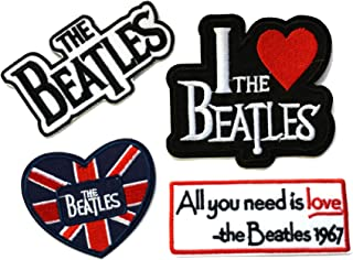 Beatles 4PK Embroidered Sew/Iron On Patch InspireMe Family Owned