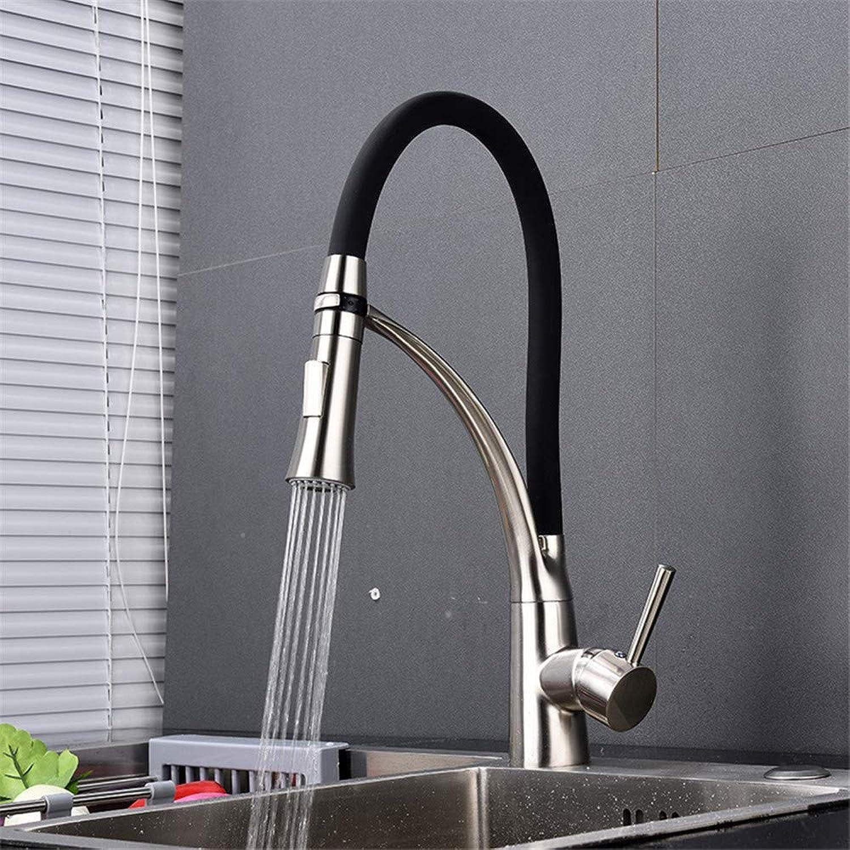 Willsego Wasserhahn Heie und kalte Küchenarmatur Universal rotierenden aus gebürstetem Gemüse Becken Wasserhahn S65-UE6589321644 (Farbe   -, Gre   -)