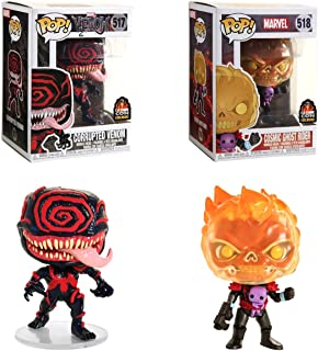 Comic Cosmic Corrupted LA con Exclusive Marvel Pop! Figures Bundled with Venom 517 + Ghost Rider 518 Vinyl 2 Items