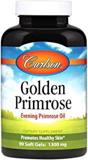 Carlson Labs Golden Primrose Evening Primrose Oil, 1300mg, 90 Softgels