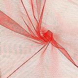 Fabulous Fabrics Tüll Klassisch signalrot — Meterware ab